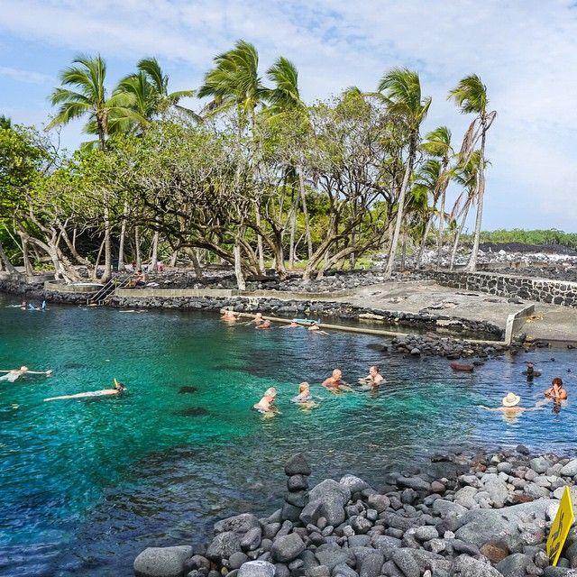 volcano-heated pool | ahalanui | big island | hawaii