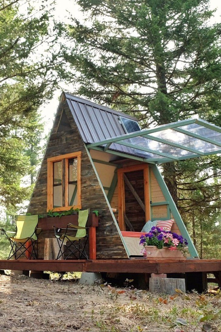 How 1 Couple Built The Dreamiest Tiny Cabin For Just 700 Yes You Read That Correctly Tiny House Cabin Tiny Cabin Tiny Cabins
