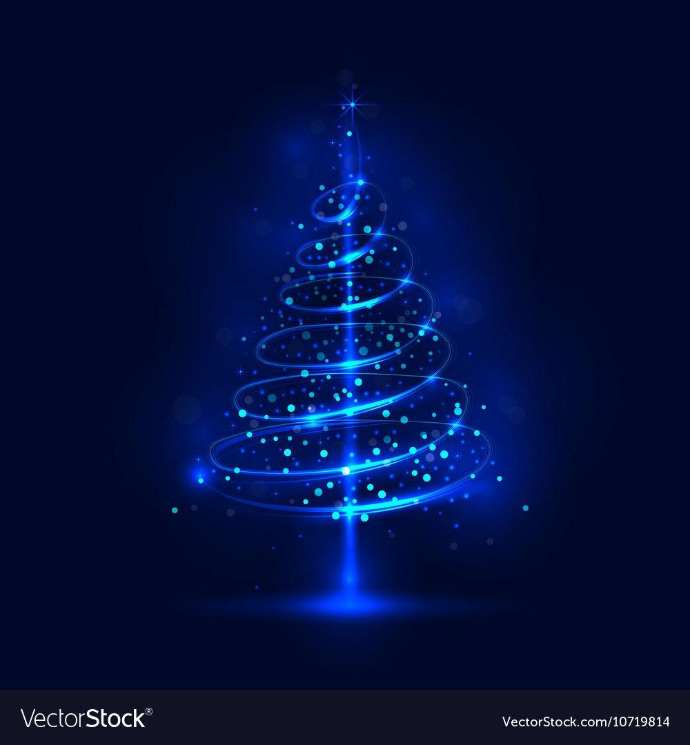 Shining Christmas Tree Vector Image On Vectorstock Christmas Animated Gif Blue Christmas Tree Blue Christmas