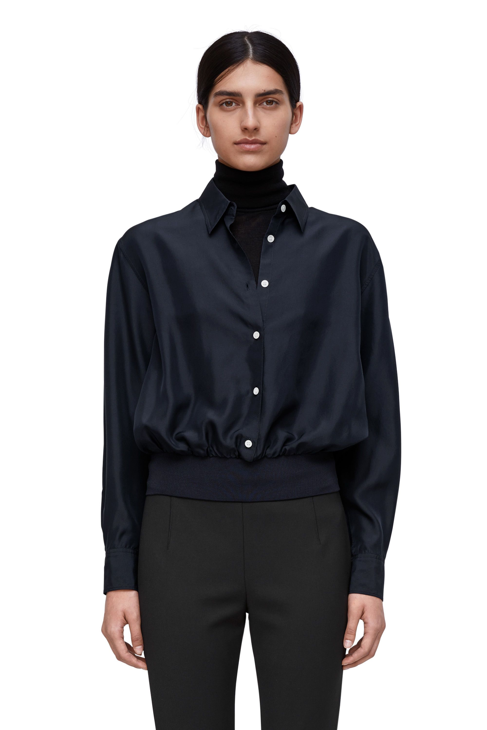 539e4b94 silk blouse Arket 99 medium reduction with email sign up Navy Blue Shirts,  Dark Navy