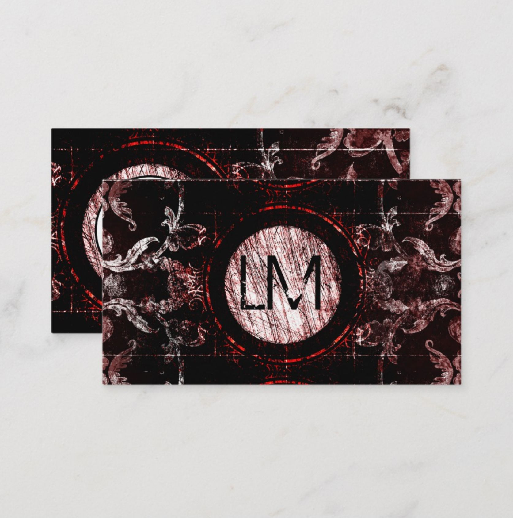 Red And Black Gothic Moon Business Card Zazzle Com Black Gothic Business Cards Gothic