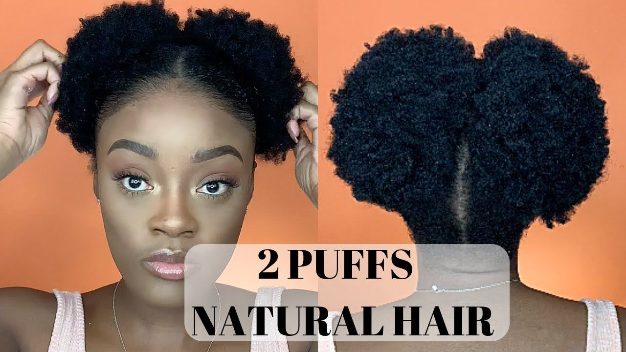 2 Puffs 4c Hair No Weave Short To Medium Hair Youtube Natural Hair Styles Medium Short Hair Medium Hair Styles