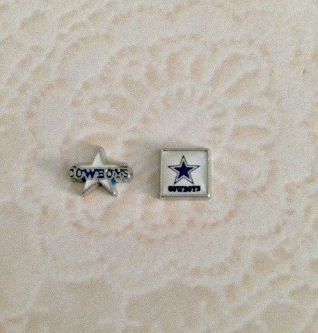 Floating charms  Dallas Cowboys by PrettyLittleLockets on Etsy