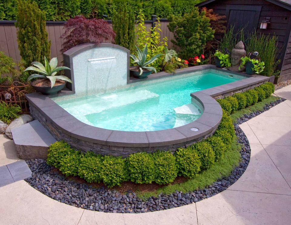 Big Ideas For 33 Small Pool Designs Small Pool Design Swimming Pools Backyard Small Inground Pool