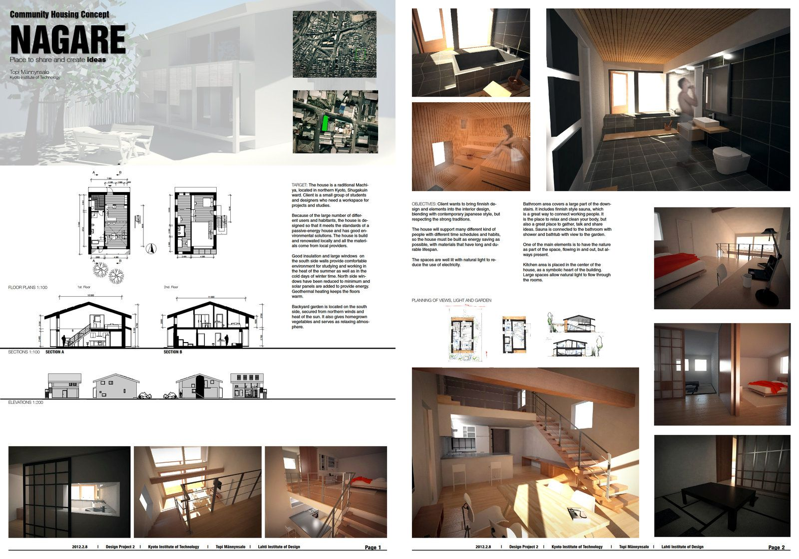 Final presentation board layout by t mann for House interior design layout