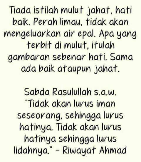 Hati Dan Lidah Positive Quotes Cool Words Quotes