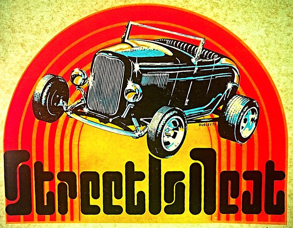 Vintage 1974 Street Is Neat Iron-On Transfer by Murley Vortex Day-Glo RARE!
