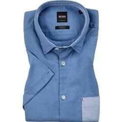 Photo of Hugo Boss Kurzarmhemd Herren, Baumwolle, blau Hugo Boss