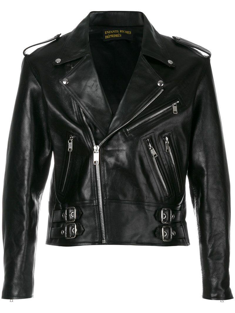 Enfants Riches Deprimes Enfantsrichesdeprimes Cloth Cropped Biker Jacket Leather Jacket Enfants Riches Deprimes [ 1067 x 800 Pixel ]