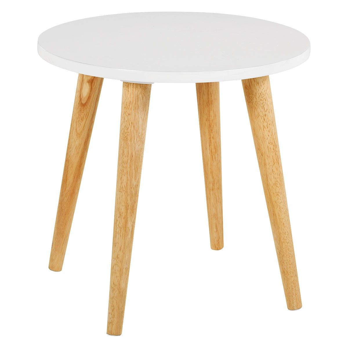 Best Clover White Side Table With Solid Wood Legs White Side 400 x 300