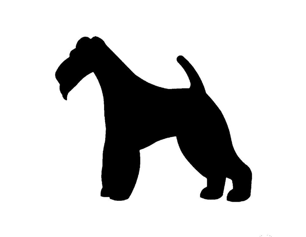 Wire Fox Terrier Metal Steel Not Painted 10 Inch Usa Silhouette