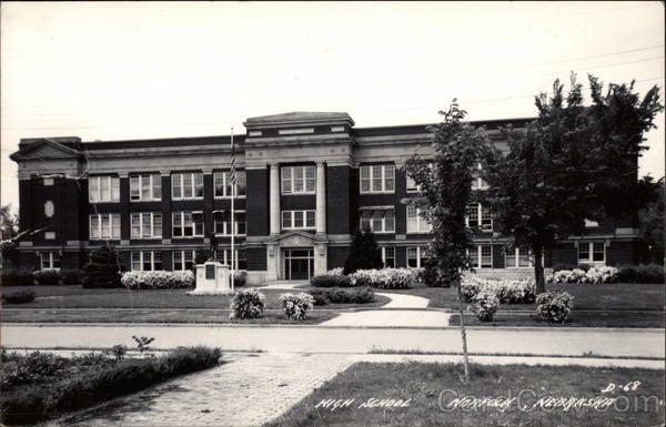 View of High School Building Norfolk Nebraska