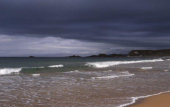 Strand von Whitepark Bay, Antrim Coast, Nordirland