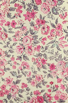 Pattern Floral Colour Pink Flowers Fabric Drawing Painting