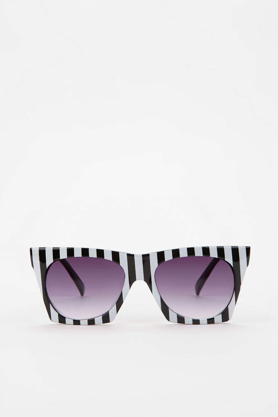 Quay Bold Stripe Cat Eye Sunglasses Urban Outfitters Urban Outfitters Sunglasses