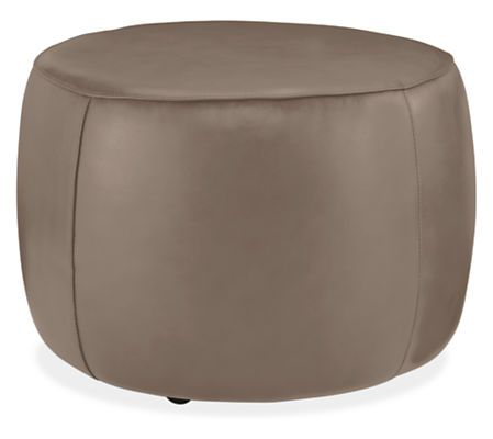 Lind Round Leather Ottomans  Round Leather Ottoman Leather Impressive Living Room Ottoman Inspiration Design