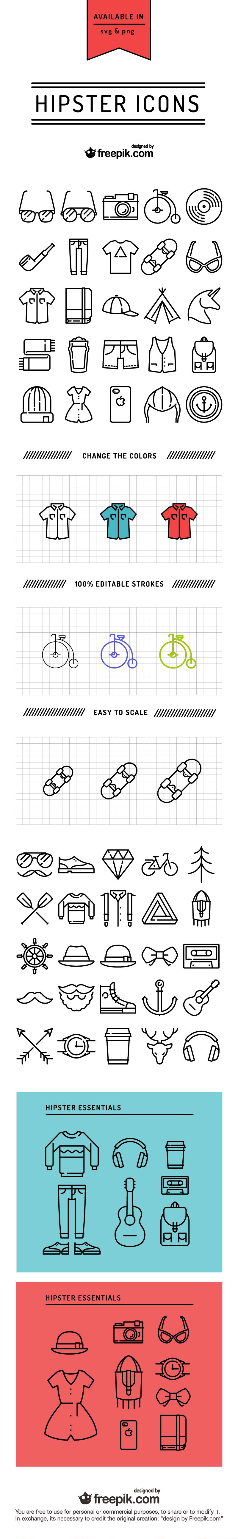 Free Hipster Icons Designed by Icons Icon