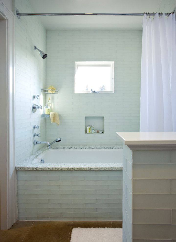 Nice Tub Surround Tile In Bathroom Traditional With Inset Niche Corner Shower  Shelves