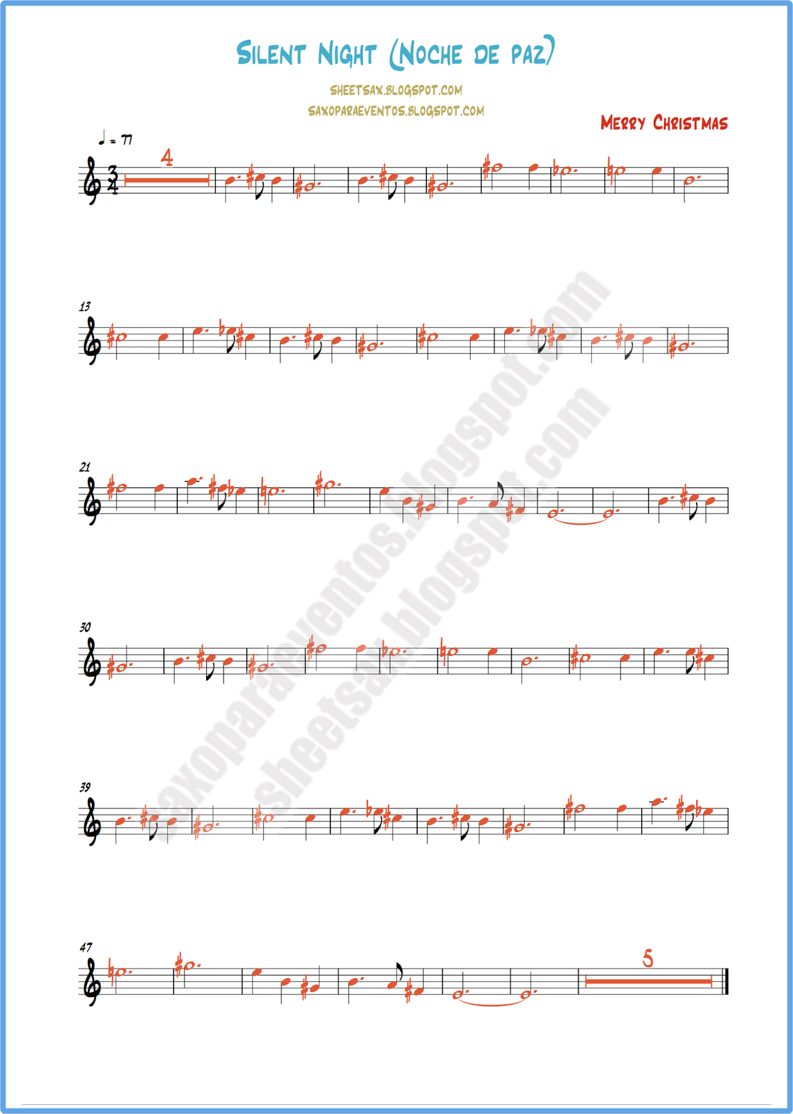Silent Night Clarinet Sheet Music I Know This Might Be