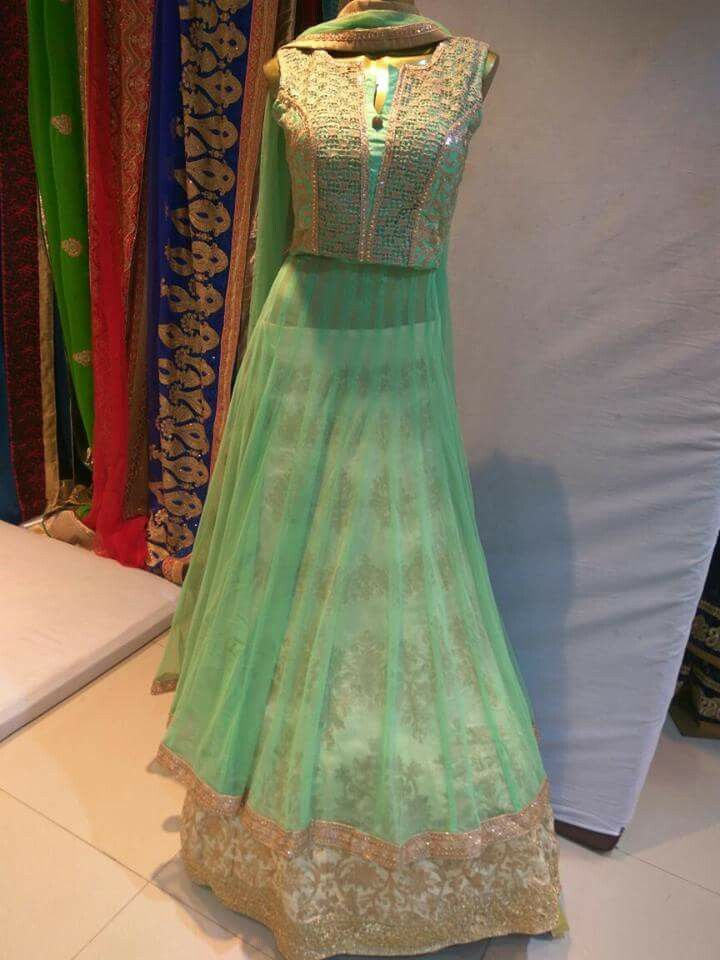 c70a75a4bb designer bajirao mastani style deepika padukone suit in green color shade  at indiantrendz pathankot store . designer dresses also available at rent  ...
