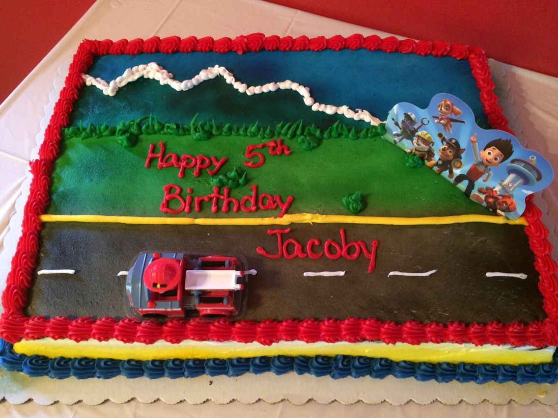 Superb Paw Patrol Cake From Walmart Walmart Birthday Cakes Mickey Personalised Birthday Cards Paralily Jamesorg