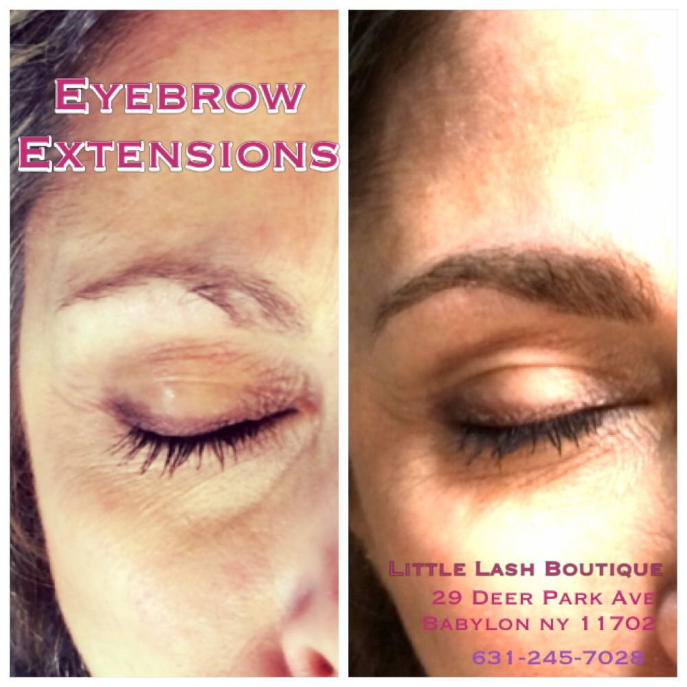 Long Island Eyelash Extensions And Eyebrow Extensions Before And