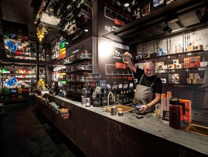 T2 tea store design by landini associates london uk for Retail design companies london