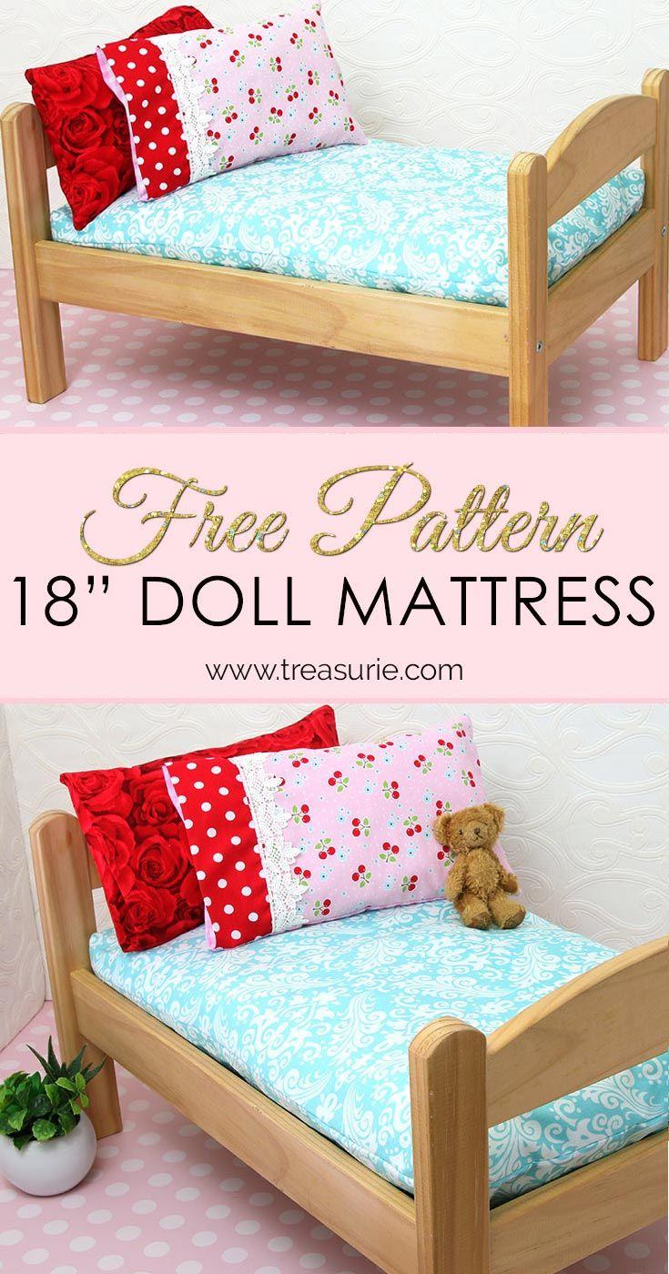 How to Make a Doll Mattress - DIY Doll Mattress Pattern | TREASURIE