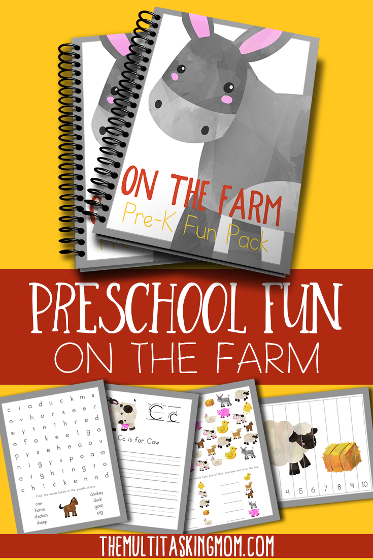 On The Farm Prek Fun Pack Farm Preschool Preschool Fun Preschool