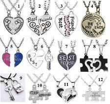 917c88d49f4c Colgante collar doble mejores amigos amor love novia (tres best ...