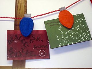 Easy craft- make a holder for your Christmas cards