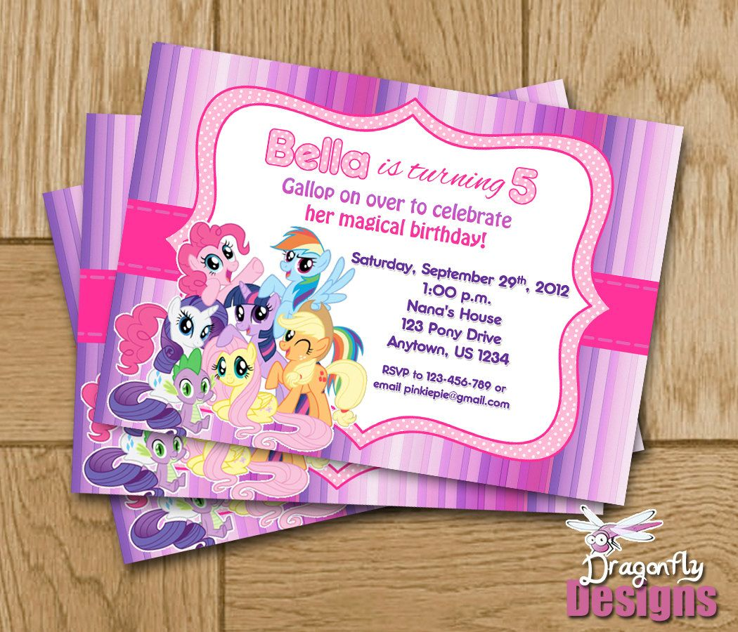 My Little Pony Birthday Personalized Invitations