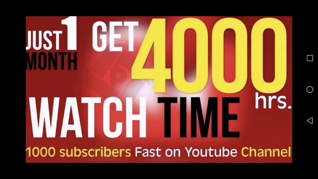 Fastest Way To Get 4000 Watch Hours And 1k Subscribers On Youtube And Ge Youtube You Youtube Channel