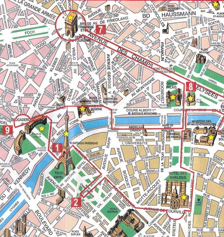 mapa de paris com monumentos Mapa dos Monumentos | Lugares que visitar en 2018 | Pinterest  mapa de paris com monumentos