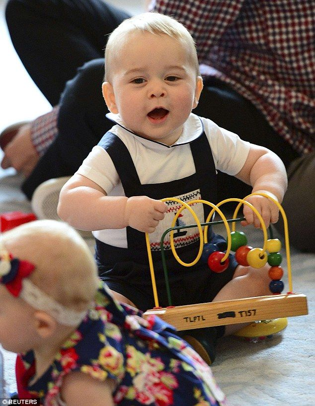 It was reported that Prince George wore a  bodysuit  from Trotters at a Plunket play group event at Government House in Wellington, New Zealand in 2014