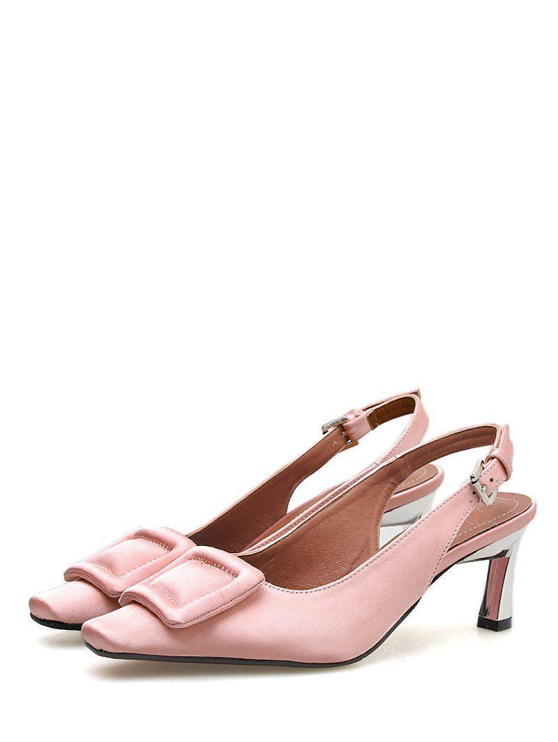 58c0eb4b0 Square Toe Buckle Slingback Pumps in 2019 | Fashion | Slingback pump ...