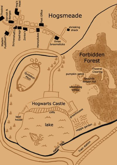 Map Of Hogwarts Grounds Hogwarts Grounds and areas map by youraveragenerd | the boy who