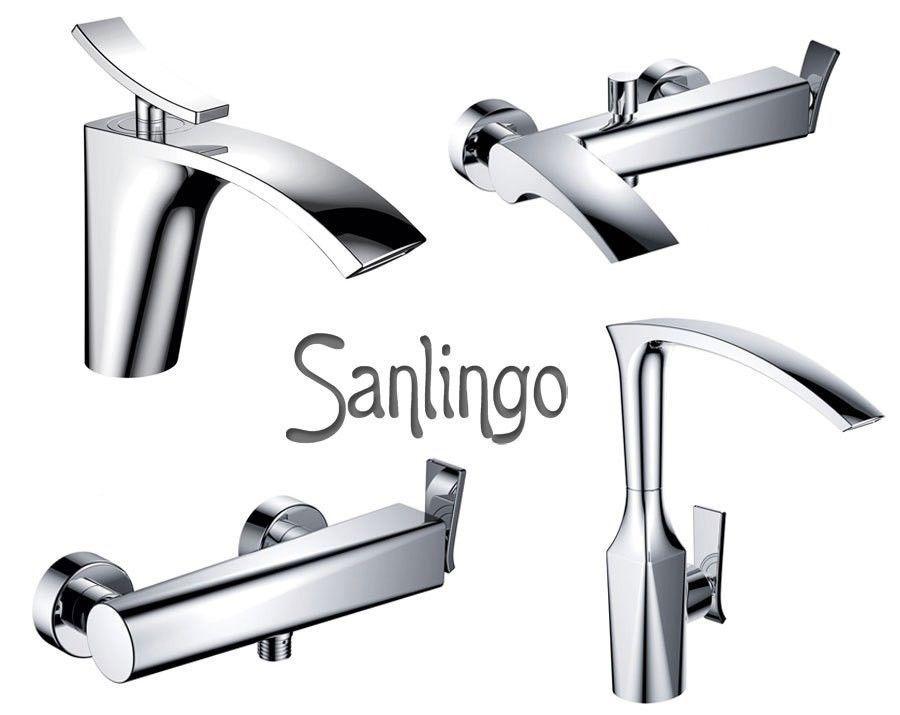 Modern Design Einhebel Armatur Für Bad Oder Küche Chrom Sanlingo JARO