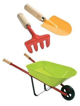 Metal Wheelbarrow From Boikido Boutique Toys Wheelbarrow Wooden Easel Classic Toys