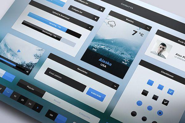 Free Download : Winter UI Kit   Designbeep