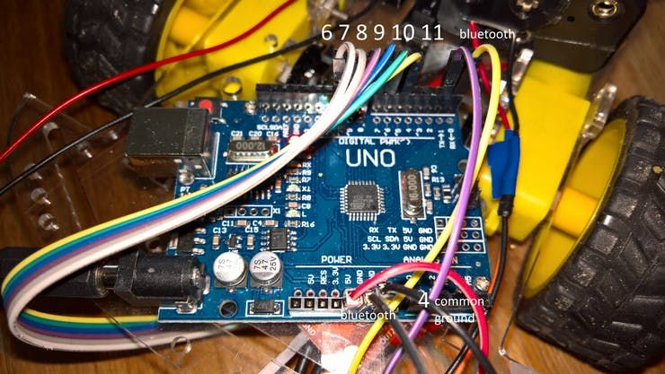 Wiring Of The Arduino Uno For Xbox One Rover Control Xbox One Xbox One Controller Arduino