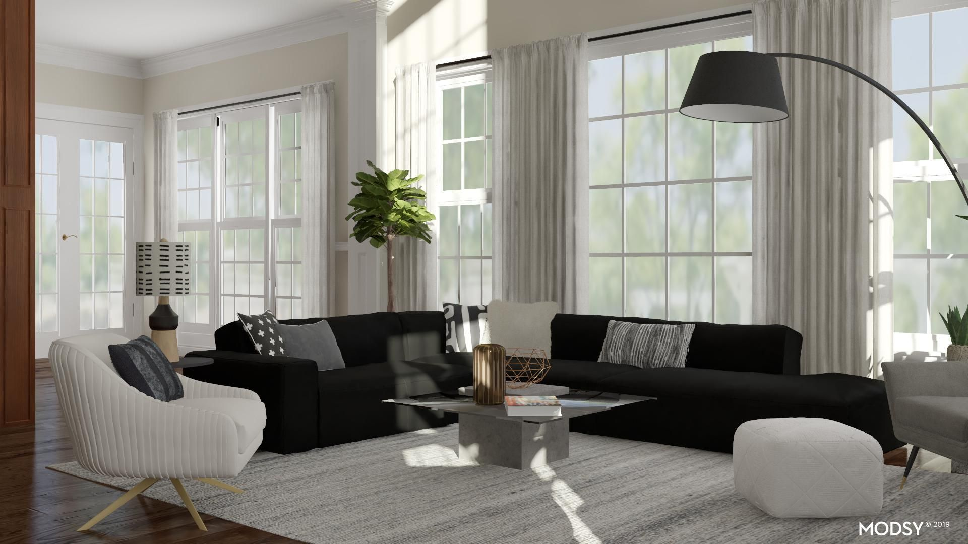 Bold Black And White Living Room Modern Style Living Room Design Ideas Modern White Living Room Black And White Living Room Black Sofa Living Room