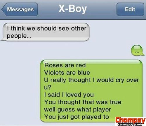 Text Message See other people | Funny texts, Breakup humor ...