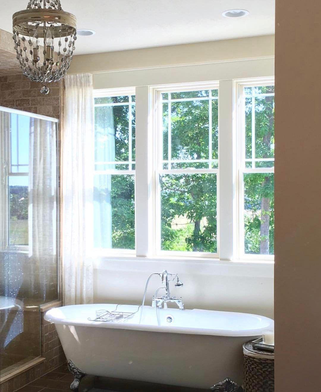 Love the tub and windows!   Bathrooms   Pinterest   Bath, House and Tubs