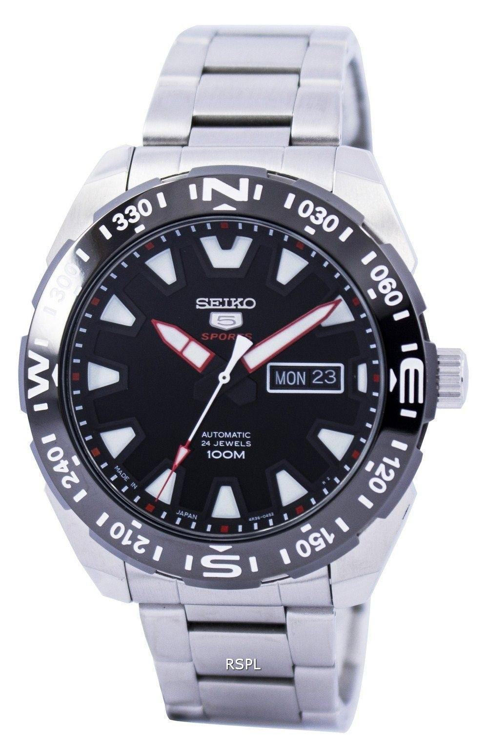 29fcc528609 Seiko 5 Sports Automatic 24 Jewels Japan Made SRP743 SRP743J1 SRP743J Men s  Watch