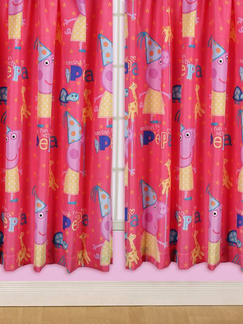 Peppa Pig Funfair Curtains Kids Bedroom Projects To Try