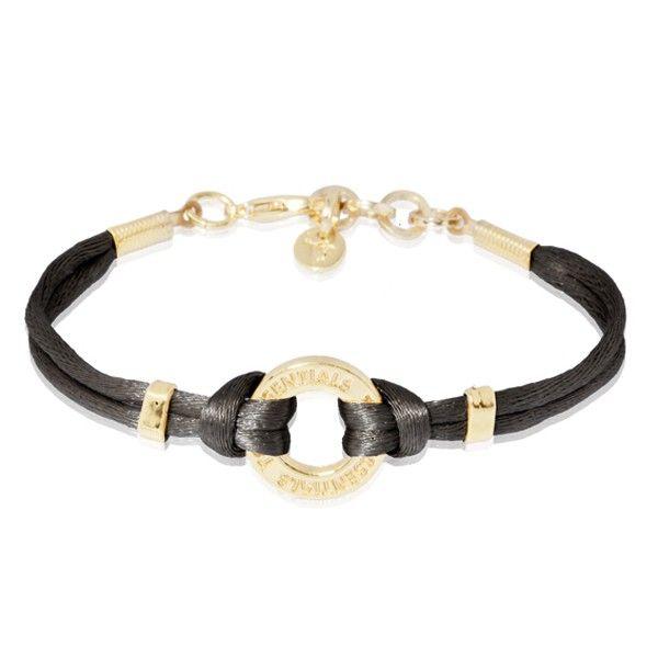 TOV Essentials Sieraden armband 00001031-002-016 goud-zwart. bekijk alle sieraden van TOV Essentials bij ons merkoverzicht