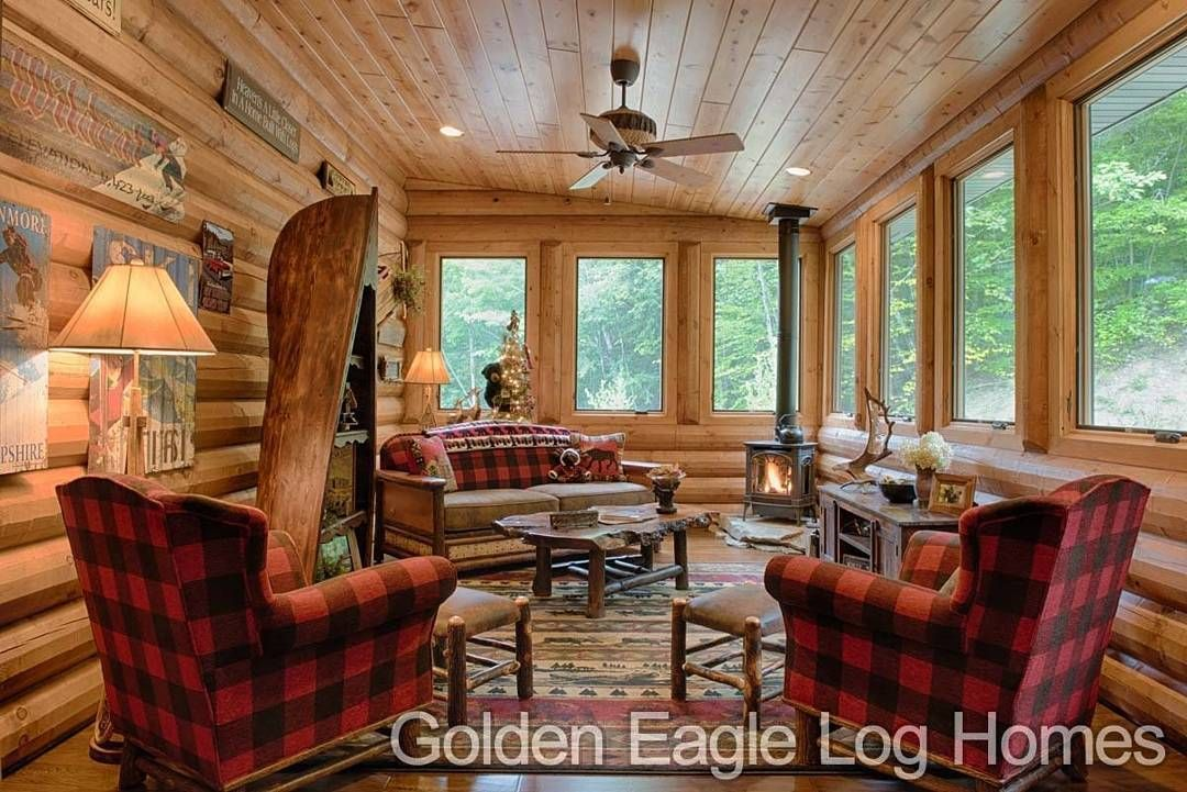 Log Home By Golden Eagle Log Homes   Golden Eagle Log Logs Cabin Home Homes  House Houses Rustic Knotty Pine Custom Design Designsu2026