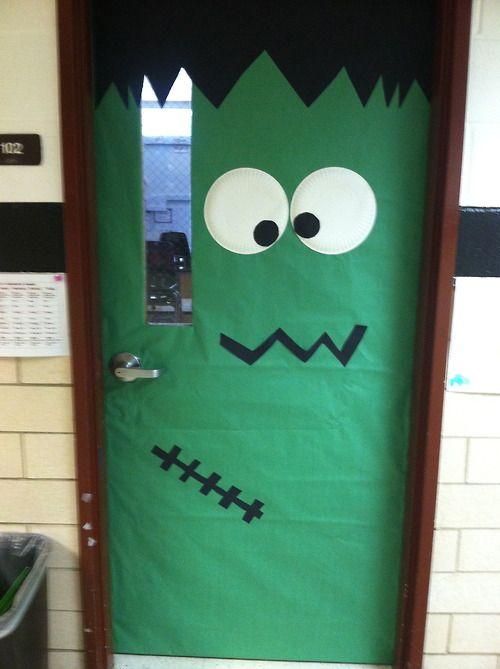 Frankenstein Door Halloween Pinterest