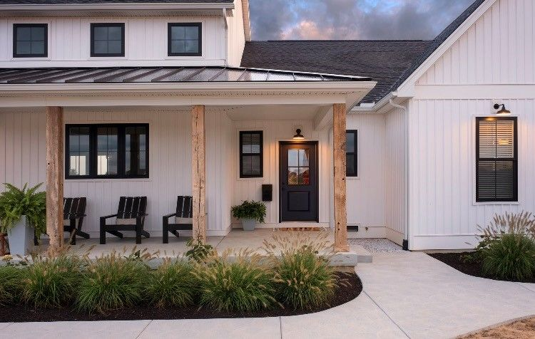 Inspiration barn light electric brick exterior house